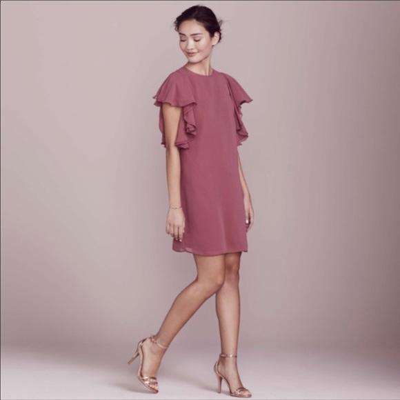 LC Lauren Conrad Dresses & Skirts - NWT LC Lauren Conrad Shift Dress w/ Ruffle Sleeves